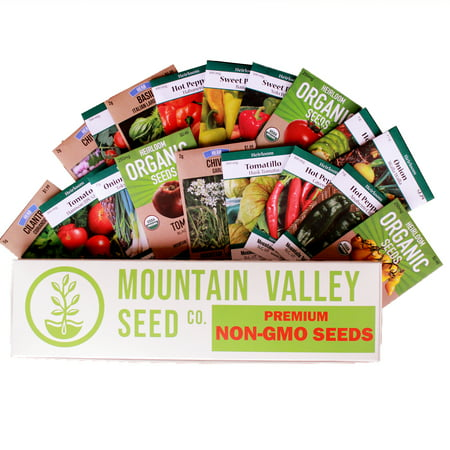 Mexican Salsa Garden Seed Collection - Premium Assortment - 18 Non-GMO Vegetable Gardening Seed Packets: Jalapeno, Tomato, Cilantro, Onion, Basil, Peppers, More ()