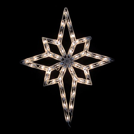 Northlight Star of Bethlehem Lighted Double Sided Christmas Window Decoration