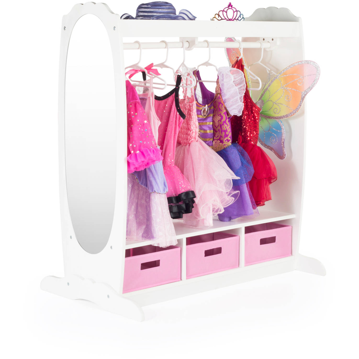 Guidecraft Dress Up Storage, Multiple Colors