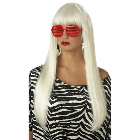 Pop Angel Costume Wig (Platinum Blonde)