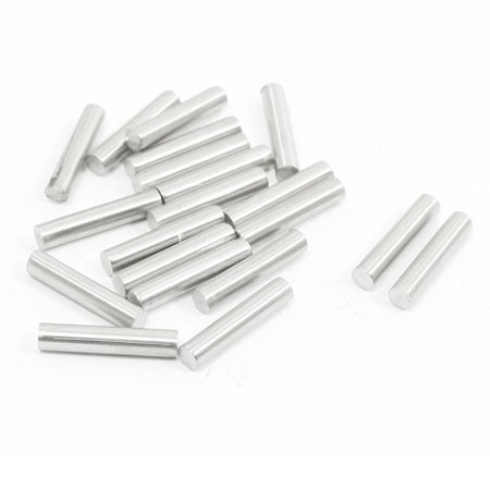 Unique Bargains 20Pcs Stainless Steel 15mm x 3mm Round Rod Stock for RC Airplane Model