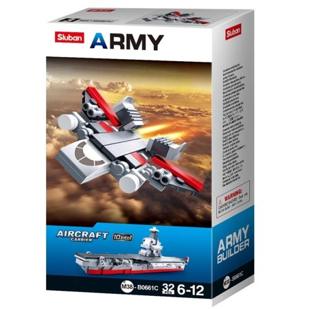 Sluban Kids Army Aircraft Fighter Jet Building Blocks 32 Pcs set Building Toy Army Fighter Jet | Indoor Games for (Best Fighter Jet Game Iphone)
