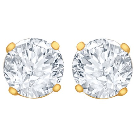 gold solitaire yg prong per heart diamond three products in stud earrings yellow mirabess