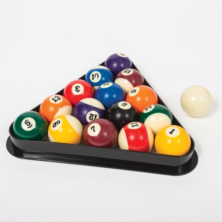 Classic Sport Billiard Ball Set with Molded Triangle ()