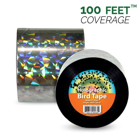 100ft x 2in Bird Repellent Scare Tape Holographic Bird Scare Ribbon, Double  Side Bird Deterrent | Walmart Canada