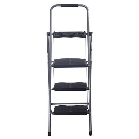 Costway New HD 3 Step Ladder Platform Folding Stool 330 LBS Capacity Space Saving (Gorilla 3 Step Folding Ladder With Tray)