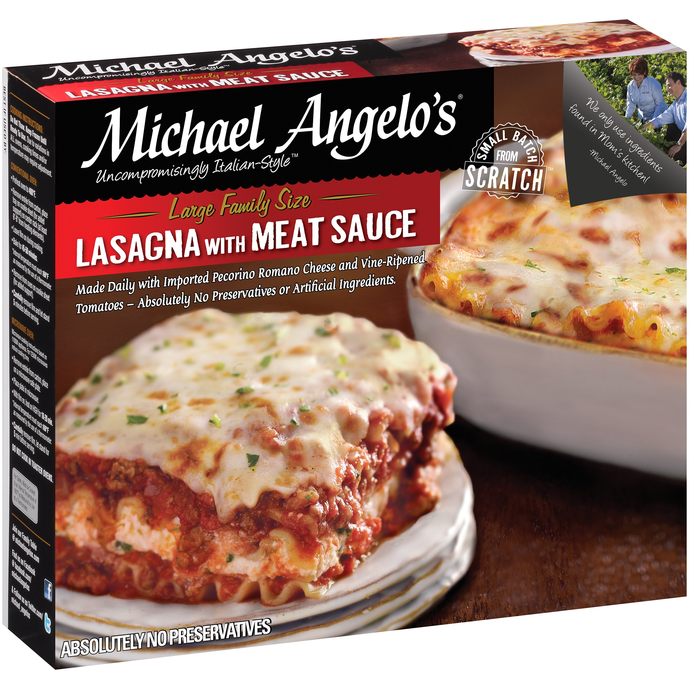 Michael Angelo's Lasagna with Meat Sauce 46 oz. Box by Michael Angelo's Gourmet Foods, Inc.