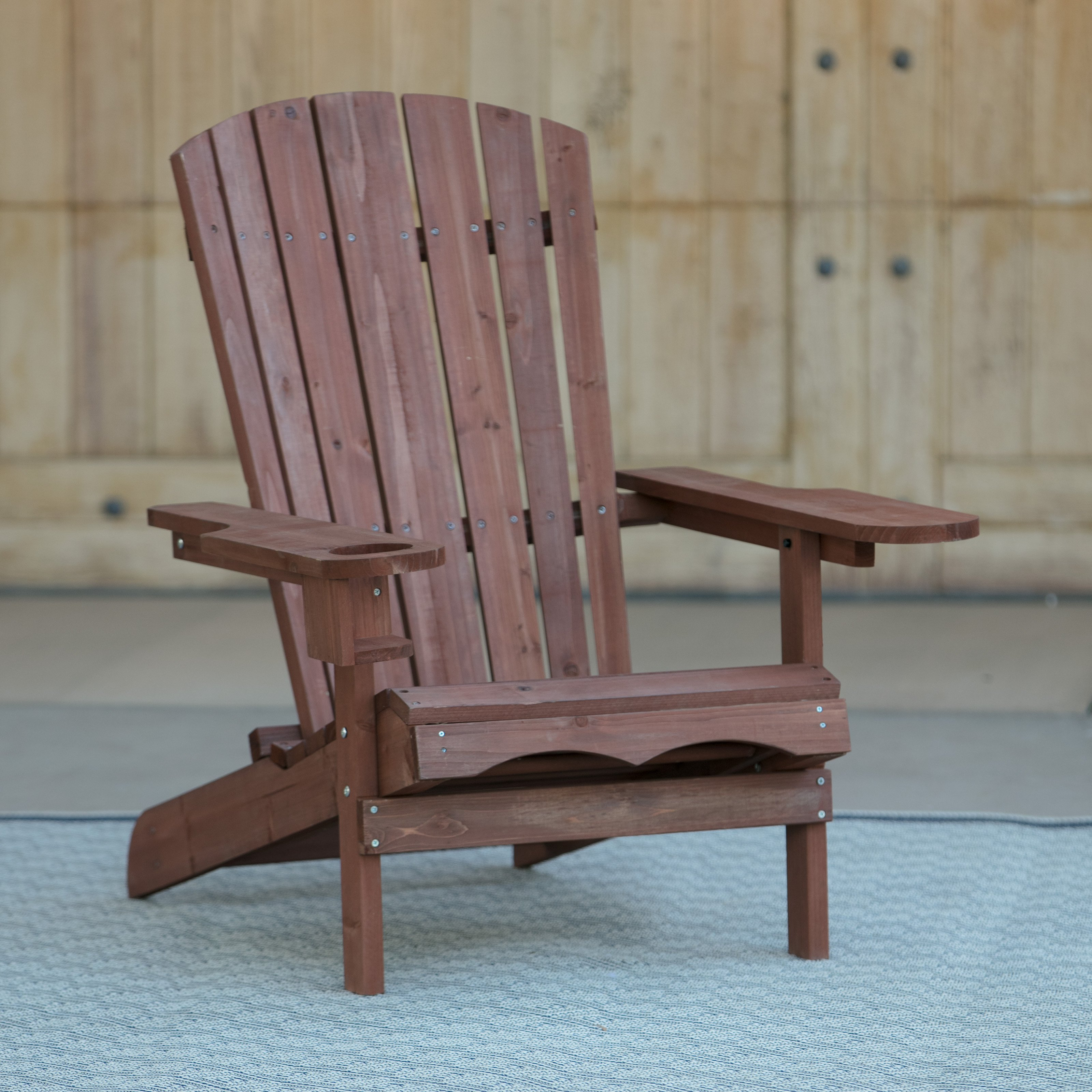 Coral Coast Big Daddy Adirondack Chair Red Stain by