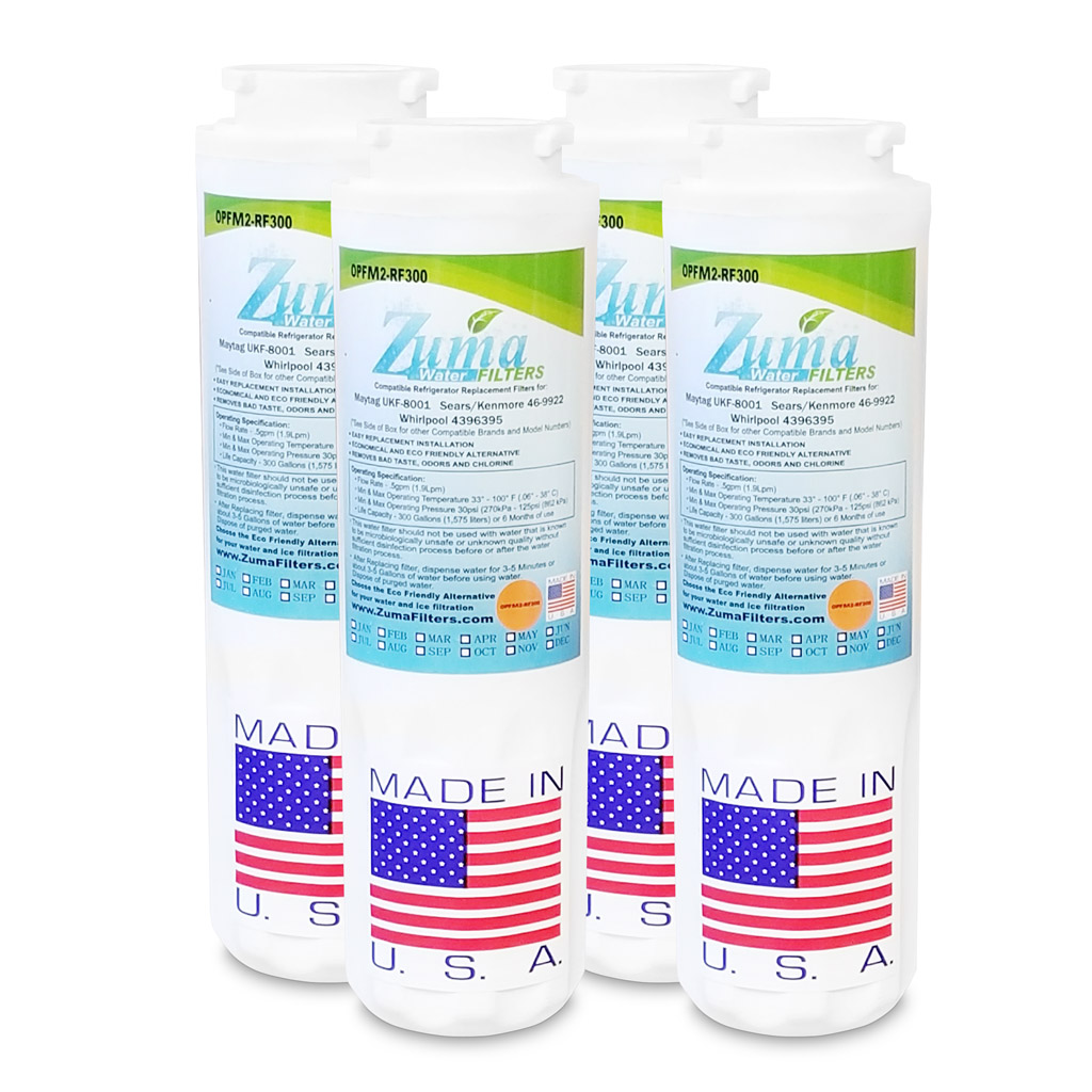 (4 Pack) Maytag SGF-M9 Compatible Refrigerator Water and Ice Filter OPFM2-RF300