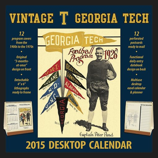Football: Georgia Tech Yellow Jackets: Vintage 2015 Desktop Football Calendar