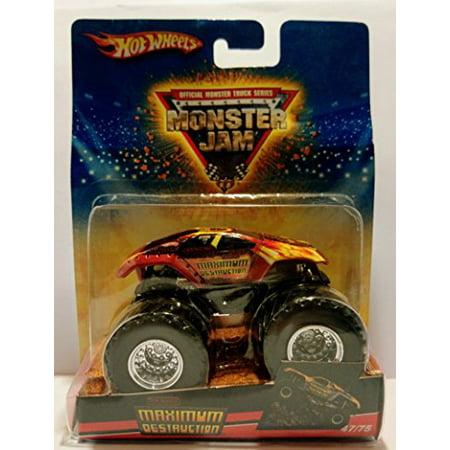 Hot Wheels Monster Jam 2009 Maximum Destruction (Red) 47/75 Monster Truck 1:64 - 2009 Diesel Trucks