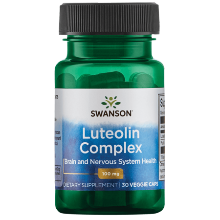 Swanson Luteolin Complex Vegetable Capsules, 100 mg, 30 Ct - Food Complex 30 Tabs