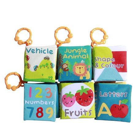 Labebe Cloth Book/Soft Books/Baby Book/ABC Book/Educational Toys/Activity  Books/Peekaboo for Baby/Toddler/Kids, Shower Gift, 6-Pack,