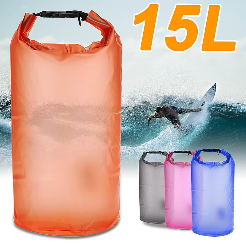 15L Waterproof Dry Bag Drifiting Rafting Canoeing Floating Kayaking Swimming Rucksacks Pouch Pack