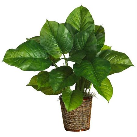 Nearly Natural 6582-0306 29 Inch Large Leaf Philodendron Silk Plant Real Touch