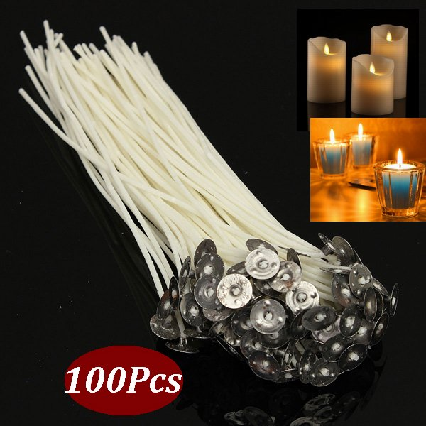 100pcs Pack 8 20cm Pre Waxed Candle Wicks Diy Candle Wicks Cotton Core With Metal Sustainers For Candle Making Walmart Com Walmart Com,Colors That Go With Black And White Stripes