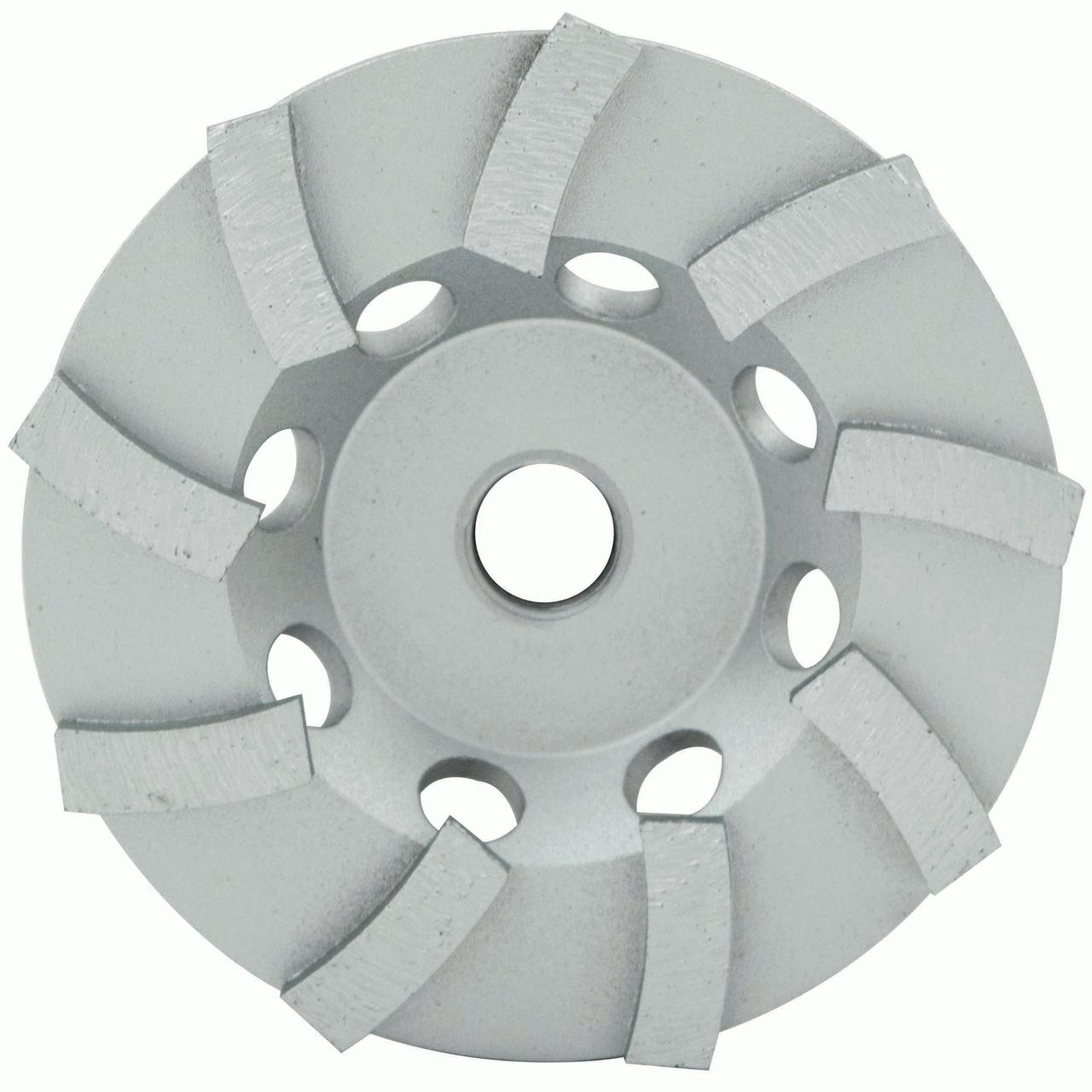 "4"" Spp Series Segmented Turbo Cup Wheel, Wet/Dry, 7/8""-5/8"", 9 Segments"