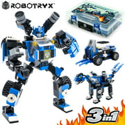 Robot STEM Toy 3 In 1 Fun Creative Set, Construction Building Toys For Boys Ages 6-14 Years Old, Best Toy Gift For Kids, Free Poster Kit Included