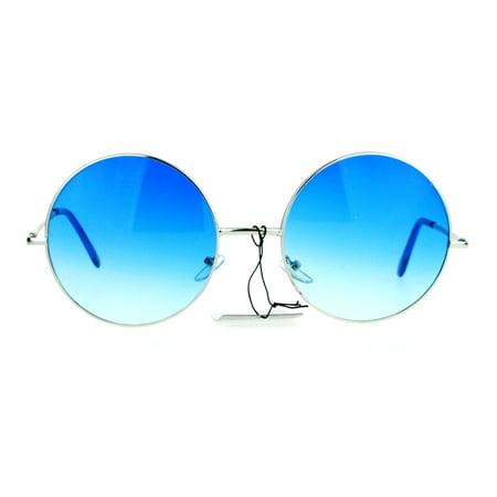 SA106 Hippie Oceanic Gradient Large Circle Lens Sunglasses (Blue Gradient)