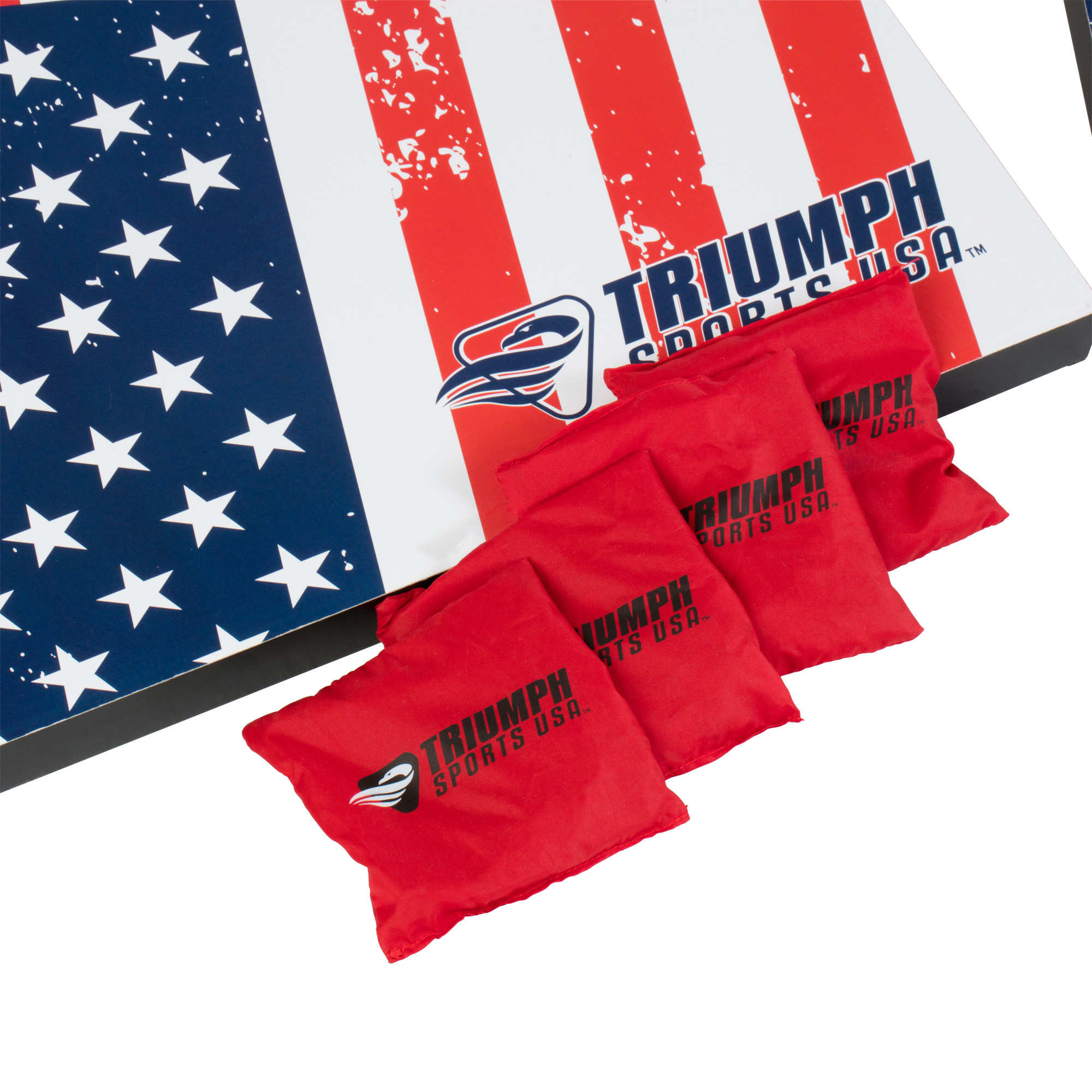 Awesome Triumph Sports Patriotic Bean Bag Toss Court Appointed Short Links Chair Design For Home Short Linksinfo