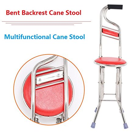 Cane Seat Walking Stick Folding Seat Portable Fishing Rest Stool Walking Cane Heavy Duty Type Light Adjustable Multifunctional Cane Chair for Elder Parents Gift - image 4 of 11