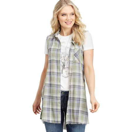 c87cc64f0 Silver Jeans Co. - Silver Jeans Co. Plaid Sleeveless Button Down ...
