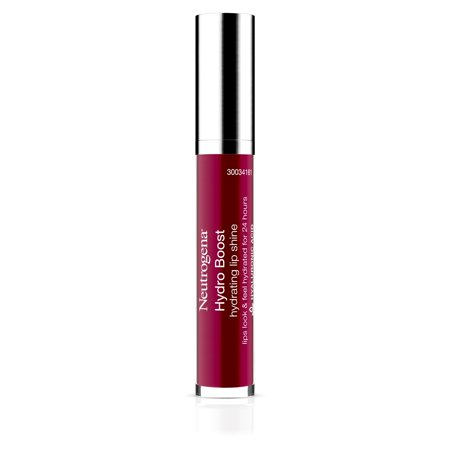 Neutrogena Hydro Boost Hydrating Lip Shine, 80 Deep Cherry Color 0.10 Oz