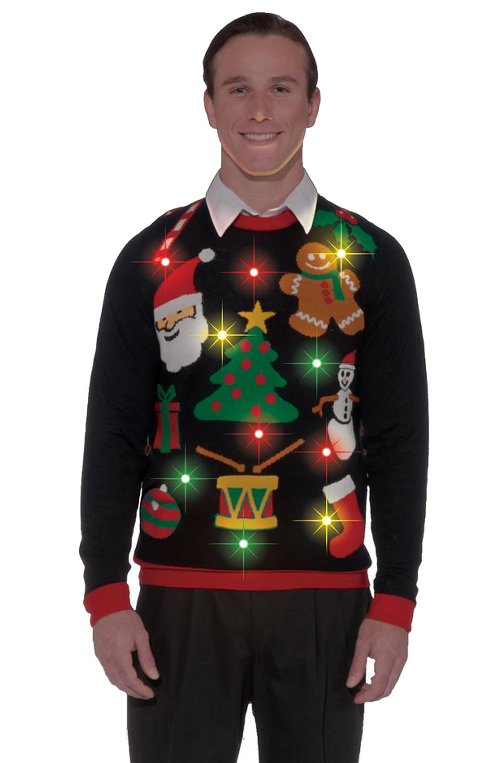 Everything Christmas Light Up Sweater Adult Costume Xl Walmartcom