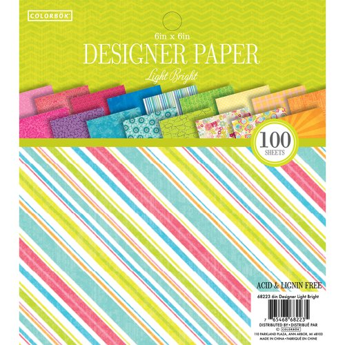 "Colorbok 6"" Designer Paper Pad, Light Bright"