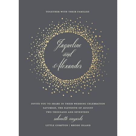 Glamour Invitation Kit (Glamour Burst Wedding Invitation)
