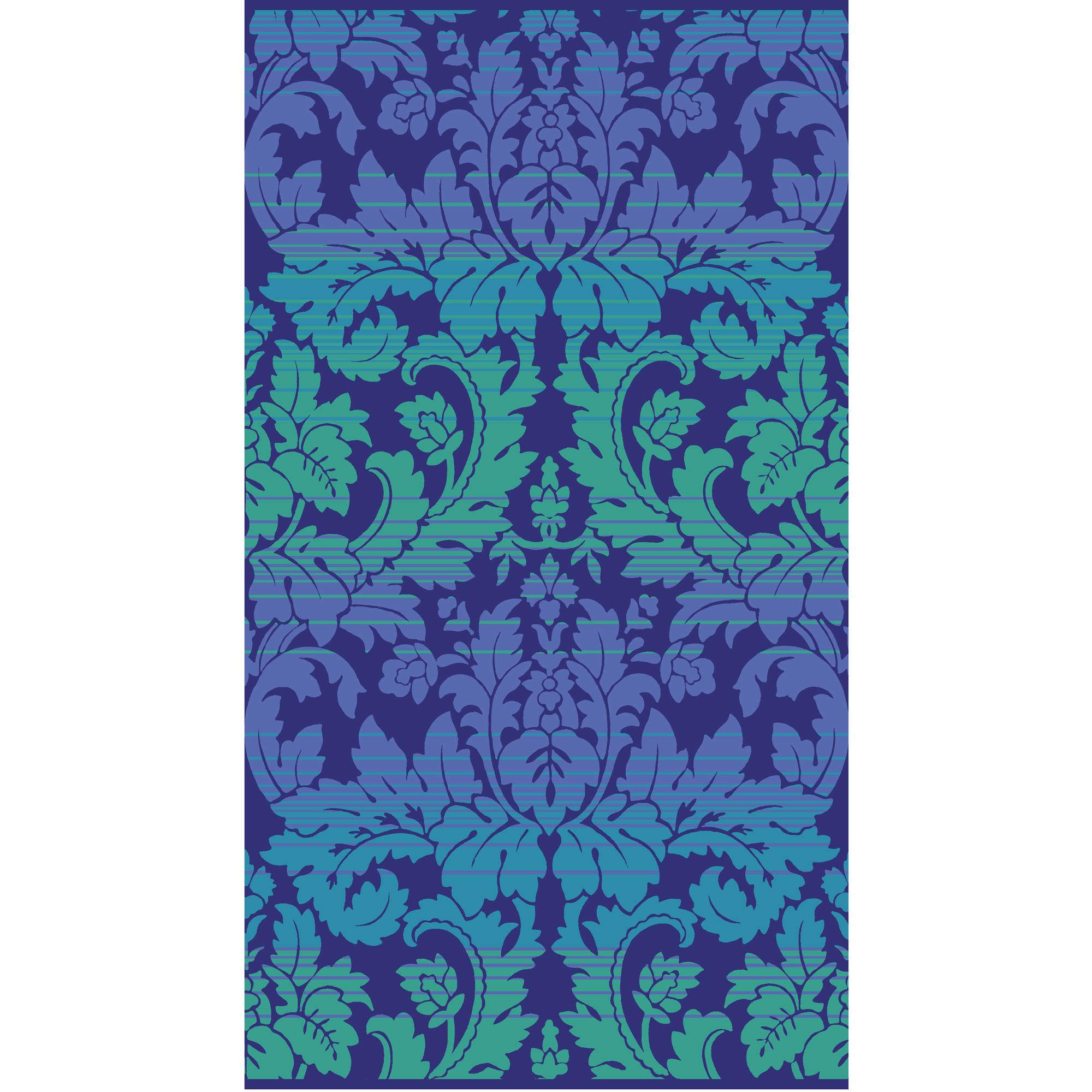"Better Homes and Gardens 40"" x 72"" Oversized Woven Beach Towel, Aqua Damask"