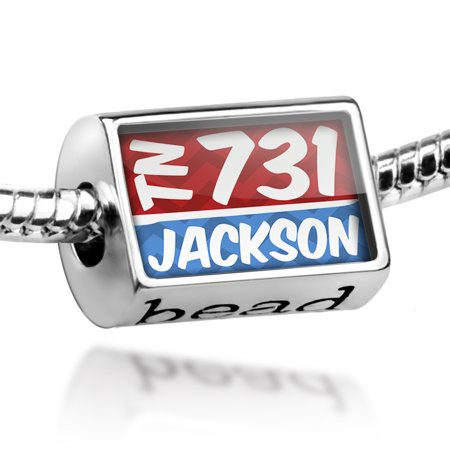 Bead 731 Jackson, TN red/blue Charm Fits All European Bracelets](Hobby Lobby Jackson Tn)