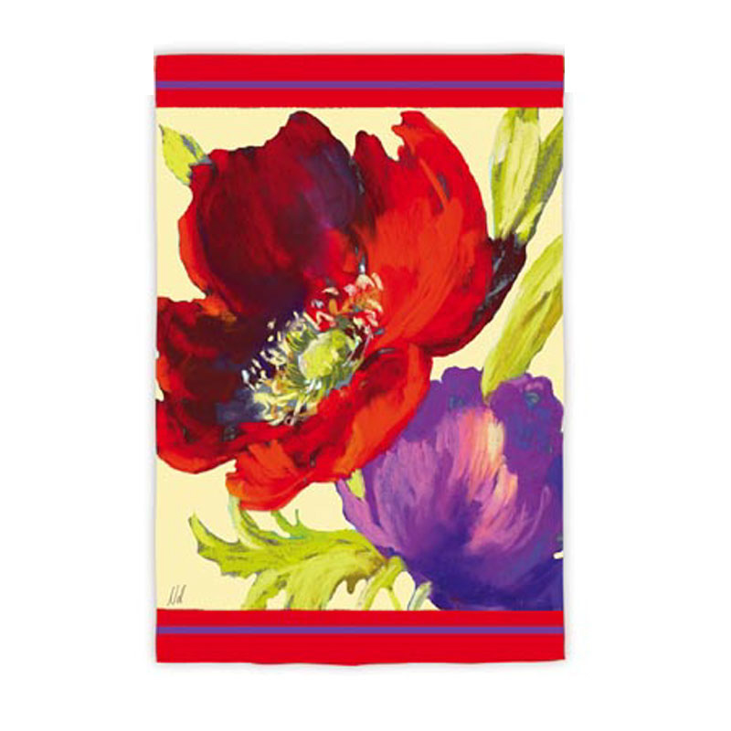 Garden Size Silk Reflections Flag, Welcome Fleur, 12.5x18 Inches
