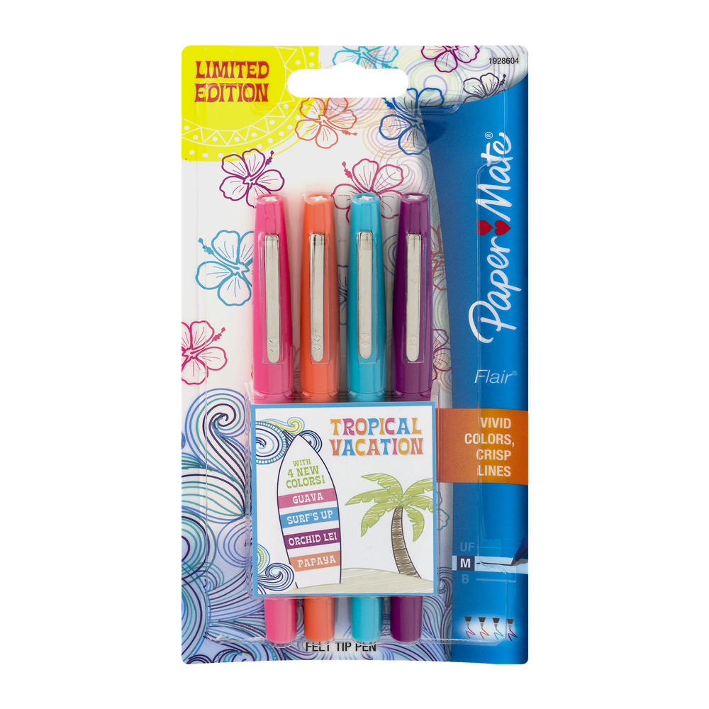Paper Mate Pens Flair Assorted Colors - 4 CT