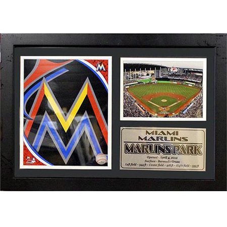 MLB Miami Marlins Photo Stat Frame, 12x18 by