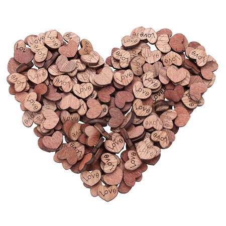 100 Pcs Rustic Wooden Love Heart Wedding Table Scatter Decoration Crafts Table Confetti For Wedding Party