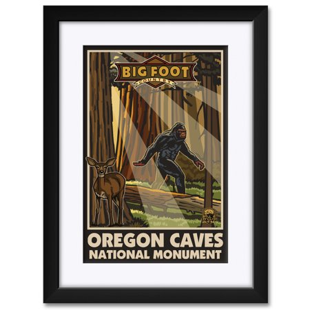 "Oregon Caves National Monument Big Foot Country Framed & Matted Art Print by Paul A. Lanquist. Print Size: 12"" x 18"" Framed Art Size: 18"" x 24"""