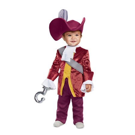 Red Captain Hook Jacket (Captain Hook Classic Baby Halloween Costume - Peter)