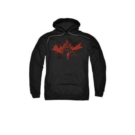 Batman DC Comics Gotham Knight Red Shadow Adult Pull-Over Hoodie](Dark Knight Hoodie)