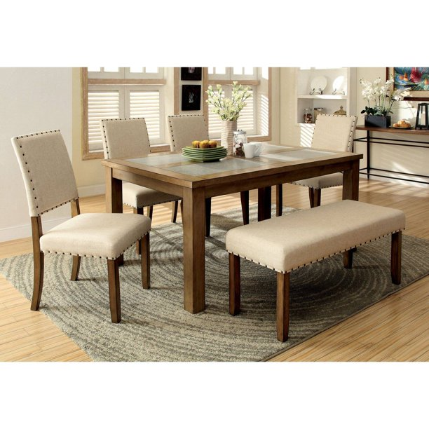 Furniture Of America Kincade 6 Piece Dining Table Set Walmart Com Walmart Com