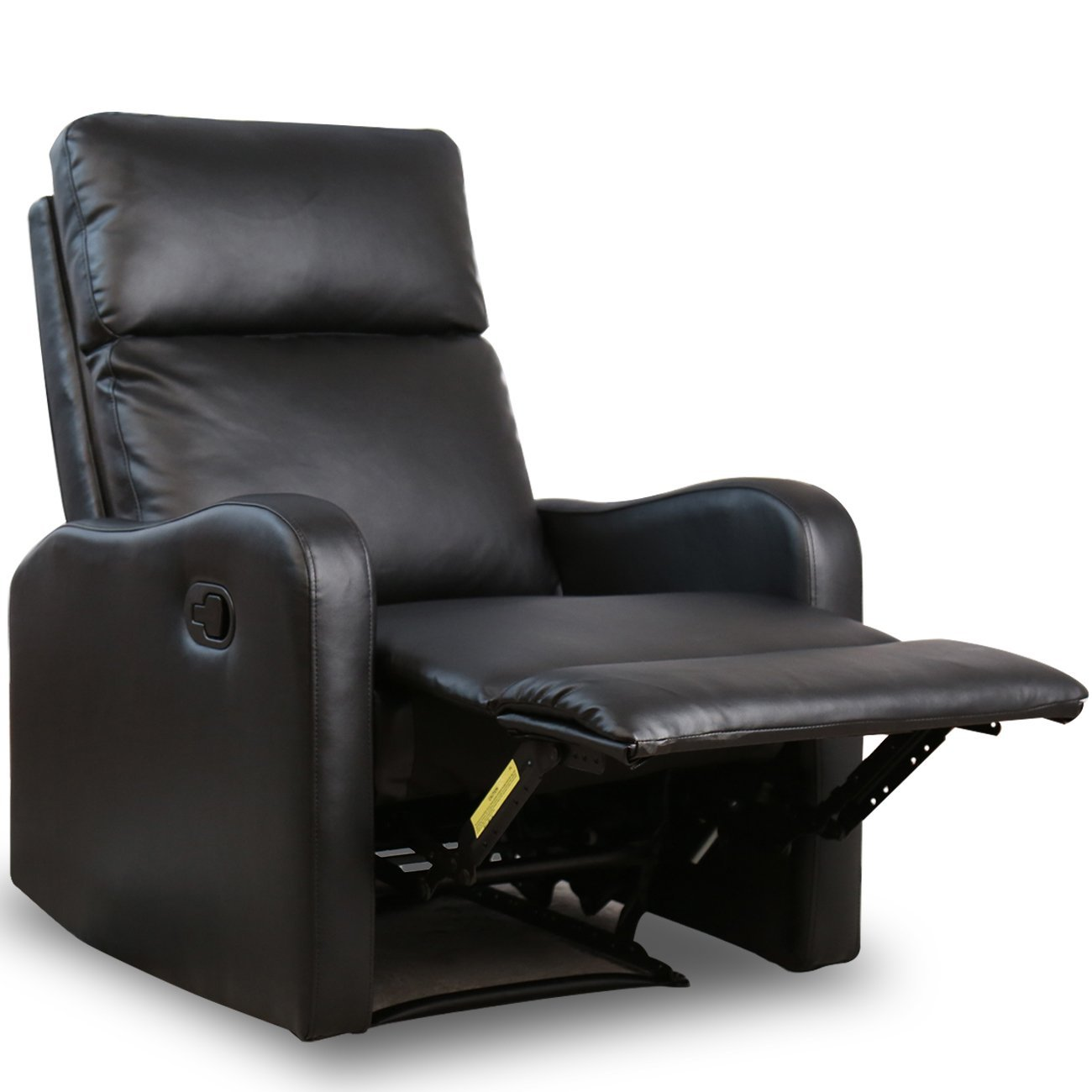 BONZY Recliner Chair Black Leather Chairs For Modern Living Room Durable  Framework