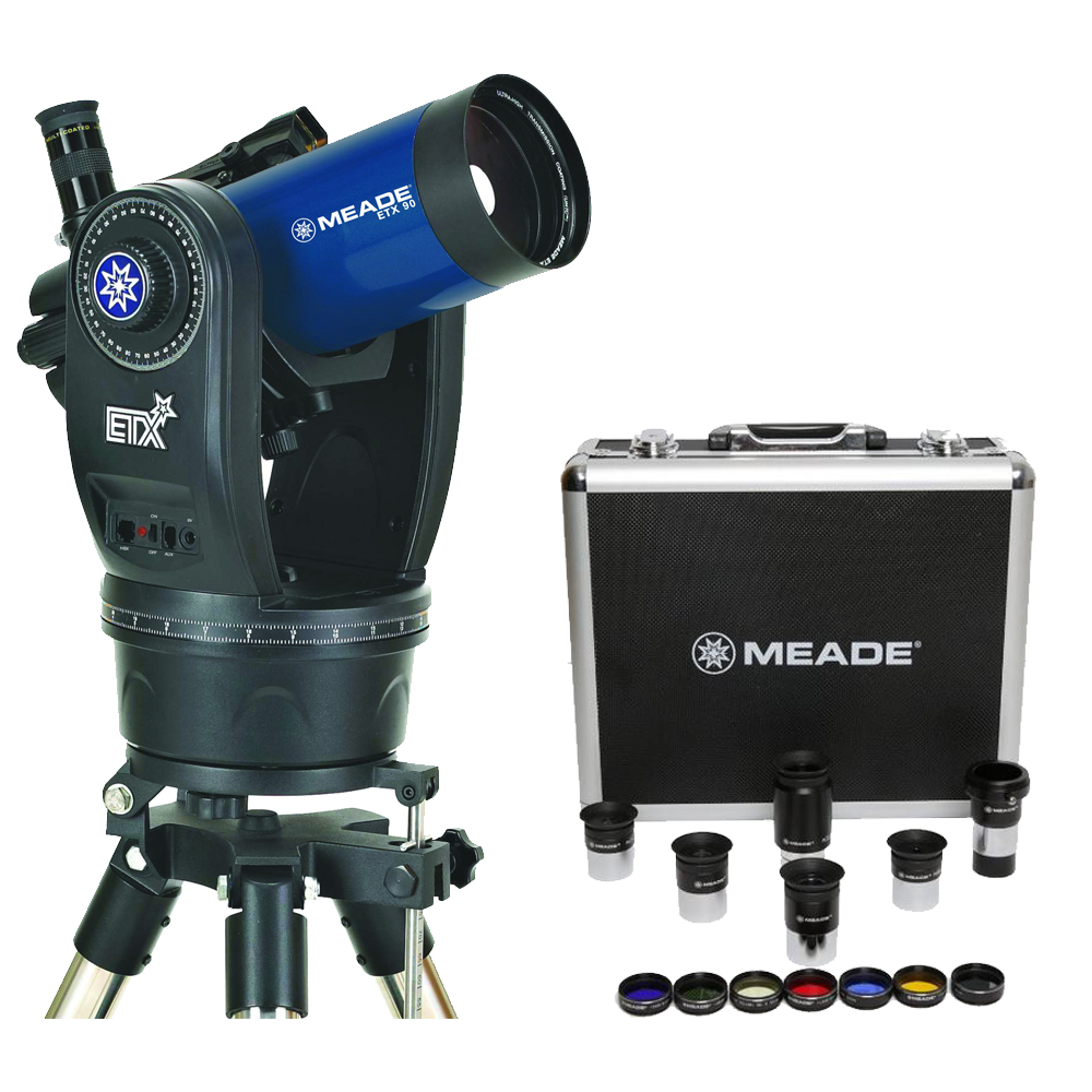 Meade ETX90 Observer Telescope w  Eyepieces & Filters Set Kit by Meade
