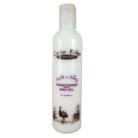 Soft N Silky Hair Conditioner With Emu Oil  Ship From Usa Brand Cedar Ridge Naturals