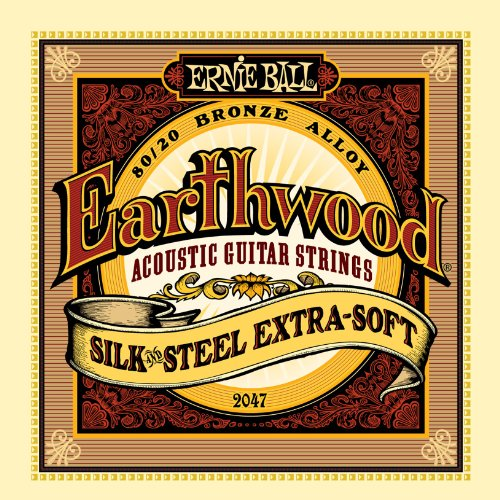 Ernie Ball Earthwood Silk and Steel Extra Soft Acoustic Set, .010 - .050