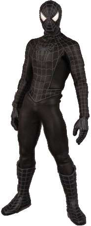 Real Action Heroes Black Costume Spider-Man 12 Inch Action Figure by