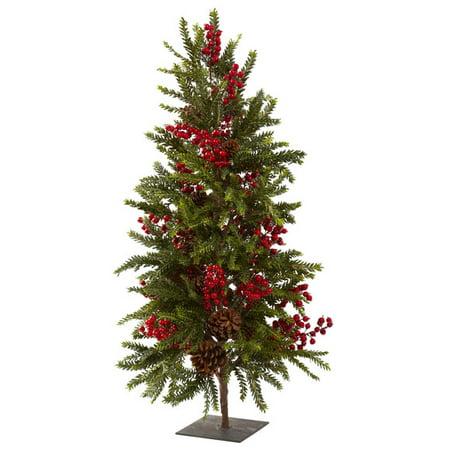"""36"""" Pine & Berry Christmas Tree ()"""