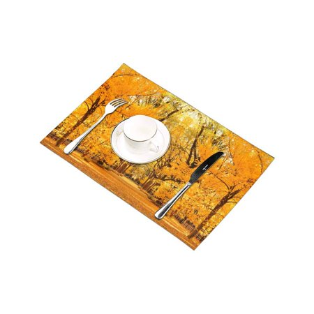 YUSDECOR Central Park Autumn in Midtown Manhattan New York City Placemats Table Mats for Dining Room Kitchen Table Decoration 12x18 inch,Set of 6 - image 2 of 4