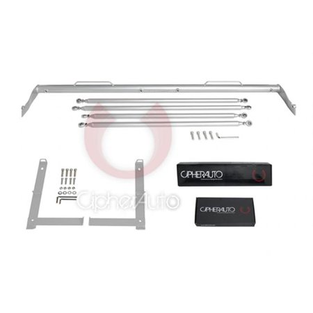 Cipher Auto CPA5020HB-SV Cipher Racing Harness Bar Silver Powder Coated - 2009-2015 CTS, Silver (Auto Racing Harness)