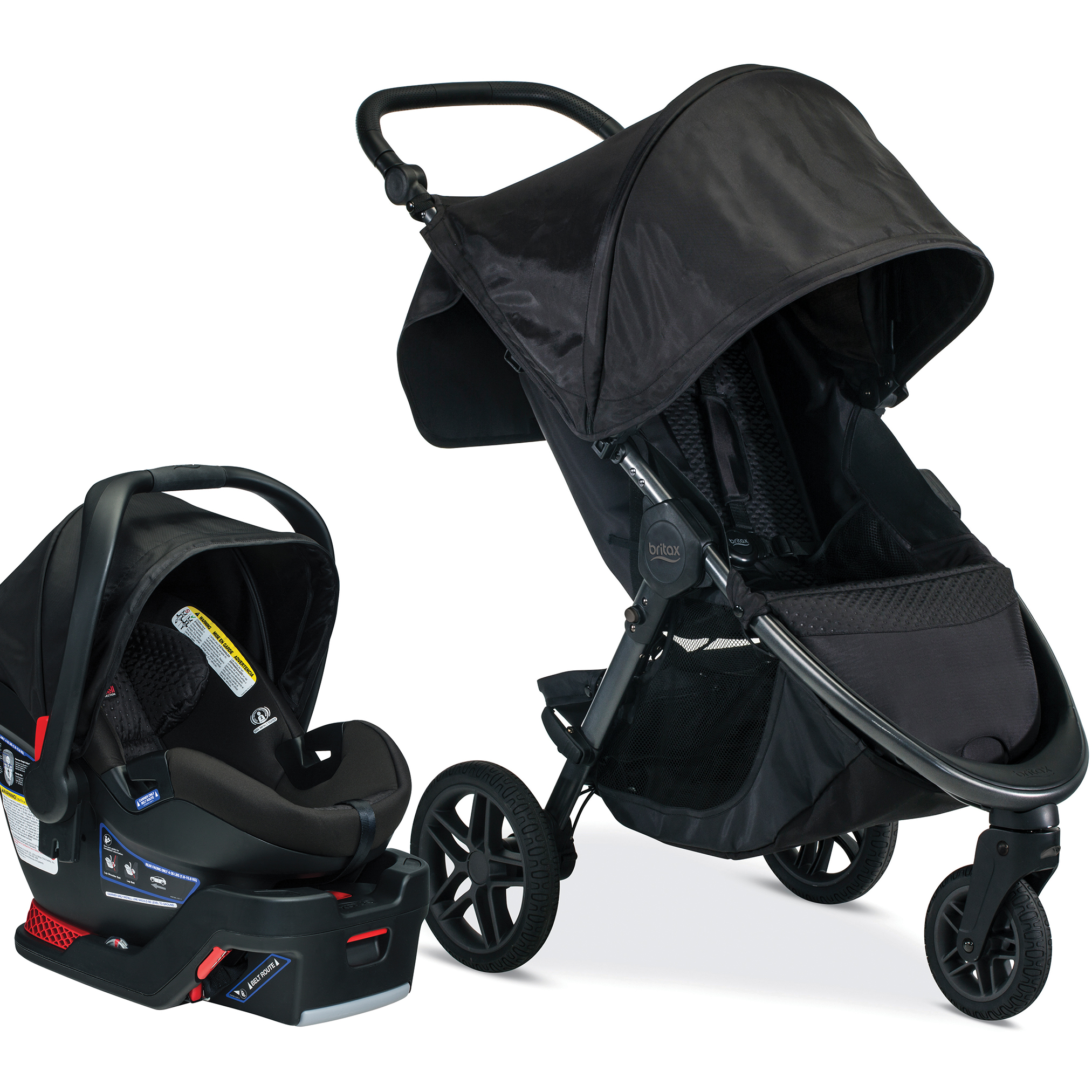 Britax B-Free & B-Safe Ultra Travel System, Midnight by Britax