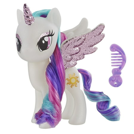 My Little Pony Toy Princess Celestia Sparkling 6-inch Figure for Kids